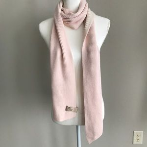 GAP Pink and Cream Two-Tone Ribbed Scarf